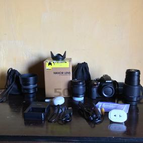 Câmera Nikon D5300 + 50mm + 55-200mm + 18-55mm