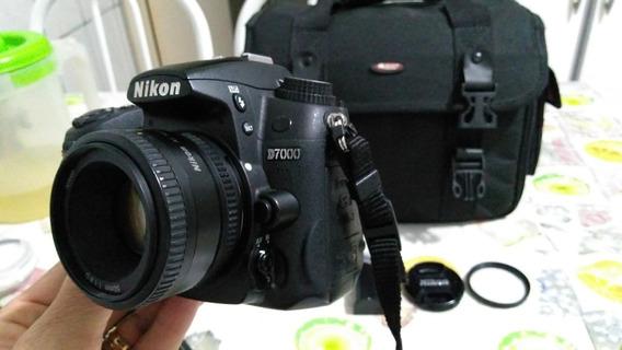 Câmera Nikon D7000 + Lente 50mm + Bolsa + Acessórios