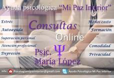 Consultas Psicológicas Online - Psicología