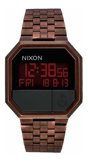 Relógio Nixon Re Run Antique Copper + Brinde