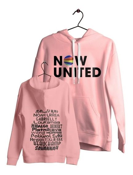 Moletom Now United Todos Integrantes Music Pop Blusa Casaco