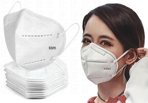 Imagem 1 de 6 de Kit 10 Máscaras N95 Proteção Respiratória Pff2 - Full