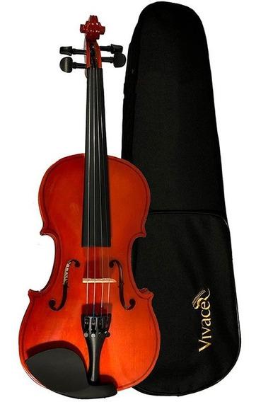 Viola Classica 4/4 Vivace Mozart Vmo44 Verniz Natural Case