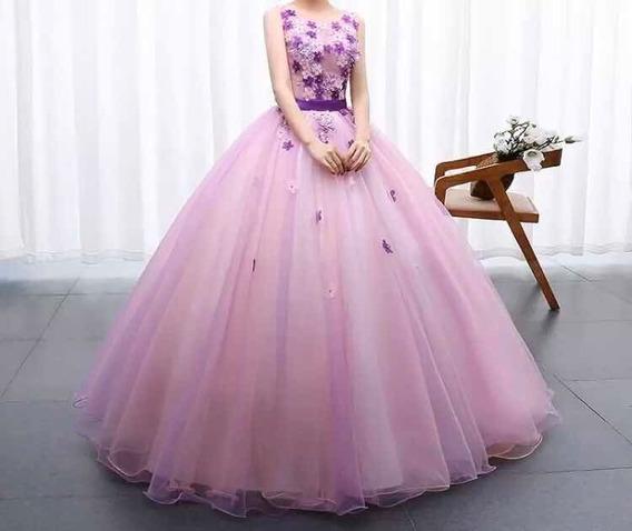 Vestido Quinceañera Nuevo Púrpura 15 Años