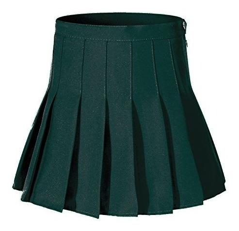 Falda Larga Falda Verde Sexy Plisada A-líneas De Las Mujeres