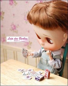 Baralho Para Boneca Blythe Rement Miniaturas 54 Cartas