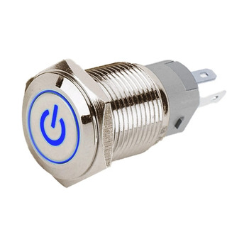 Push Button 1na/1nf C/ Iluminação 12v 16mm