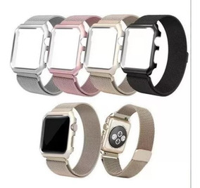 Pulseira Com Case Para Apple Watch 38mm 42mm 40mm 44mm 1 2 3