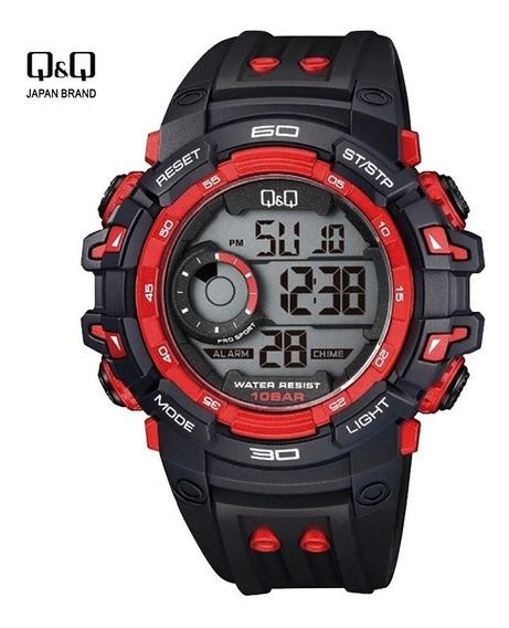 Reloj Q&q Deportivo Negro Hombre Digital Acuático Original Q