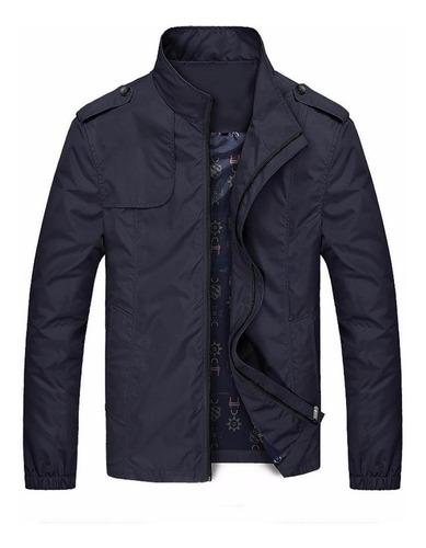 Chaqueta Negra Fashion Casual Hombre Slim Winter Spring Coat