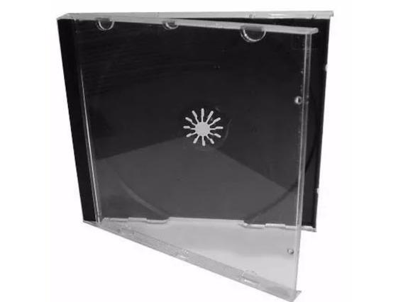 100 Capas Caixinha Acrilica Cd Box Transparente Promoção