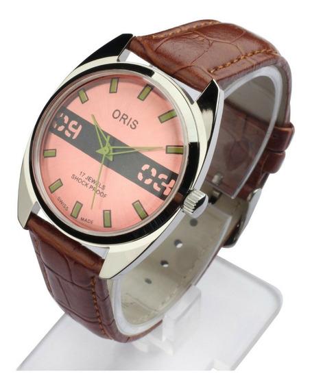 Relógio Oris Vintage A Corda Manual Década De 70 Cod.69