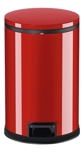 Cubo Residuos Hailo 12 Lts, Cierre Soft Rojo Design Pure M