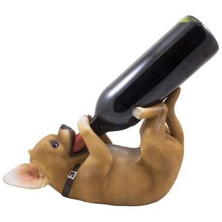Bebiendo Chihuahua Cachorro Perro Único Portavasas De Vino