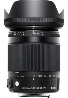 Lente Sigma 18-300 Para Nikon F/3.5-6.3 Dc Macro