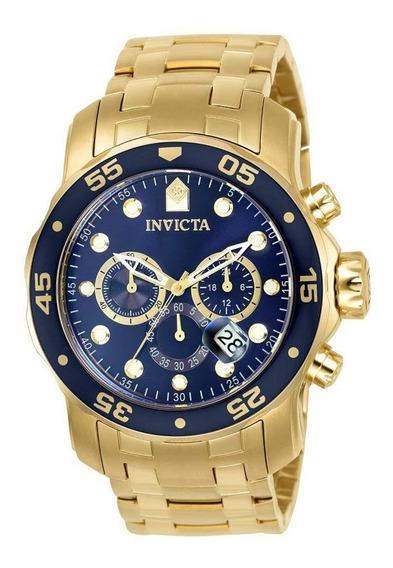 Relógio Invicta Promoção 073 21923 Dourad B Ouro 18 Original