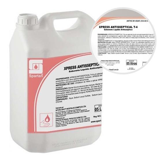 Sabonete Líquido Xpress Antisseptical T-4 5 Litros Spartan