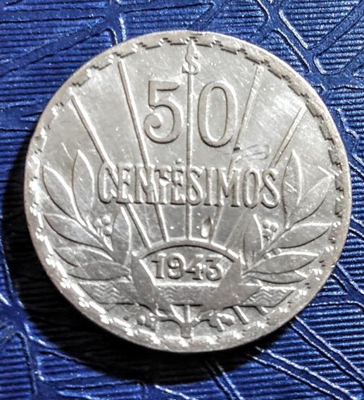 Moneda De Plata Uruguay (1943)