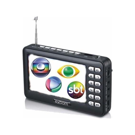 Tv Portátil Led Digital Com Conversor Micro Sd Antena Bivolt