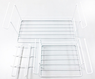 Kit Organizador Alacena Blanco- Estantes Y P/tazas Colgantes