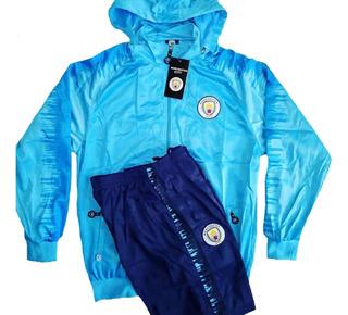 Conjunto Agasalho Calça E Blusa Time Manchester City