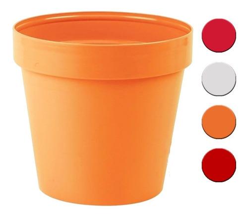 Maceta 20cm Italy Colores Varios Classic Idel  X3 Unid. G P