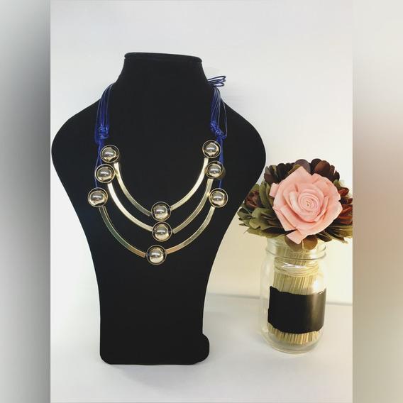 !!collar Color Azul Moda Vintage!!