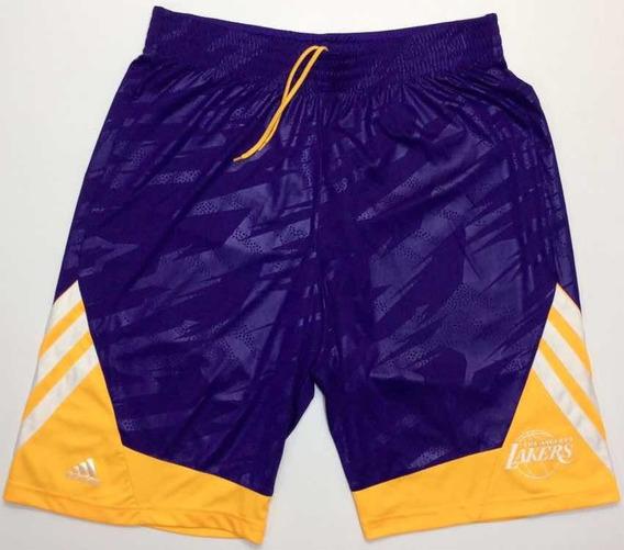 Short adidas Nba L.a. Laker Violeta Talle L
