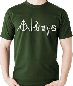 Camiseta Always Simbolos Harry Potter Reliquias Camisa Blusa