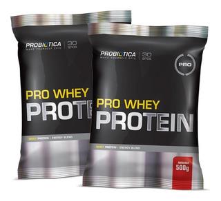 2x Pro Whey Pro - Sachê De 500g (refil) - Probiótica