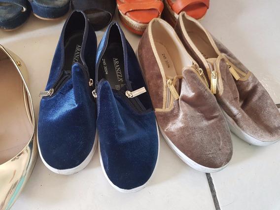 40 Pares De Zapatos, Todos Talla 5 Mex