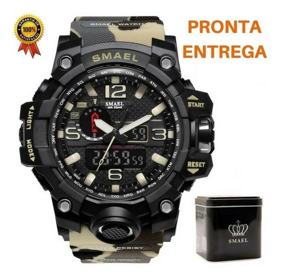 Relógio Masculino Camuflado Esporte Digital Analógico Smael®