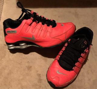 Tenis Nike Shox Rosa Originales Estilo Neón