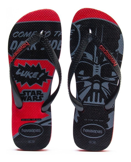 Havaianas Star Wars Come To The Dark Side Vermelho Tam 45/46
