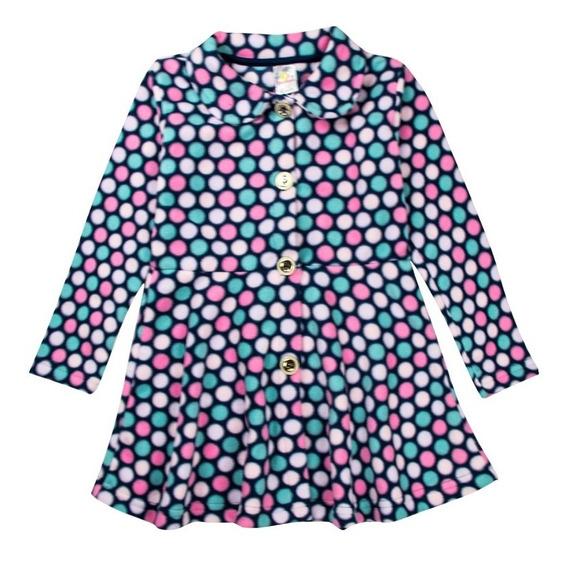 Blusa Sobretudo Infantil Menina Soft Estampado