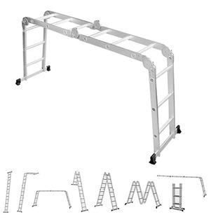Escada Multifuncional Alumínio 4x4 16 Degraus Worker 428140