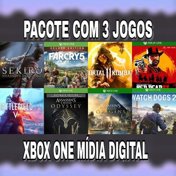 3 Jogos Xbox One Midia Digital Online