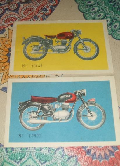 2 Postales Motos Gilera