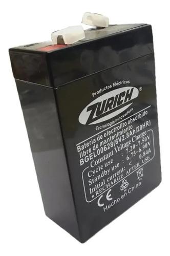 Bateria De Gel Recargable Zurich 6v 2.8a Luz Emergencia