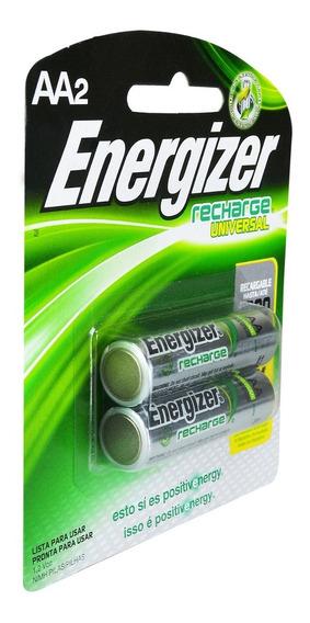 Pilas Energizer Aa 2000 Mah Nimh 1500 Recargas
