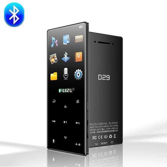 Mp3 Player Ruizu 16gb Modelo D29 Bluetooth Touch Screen