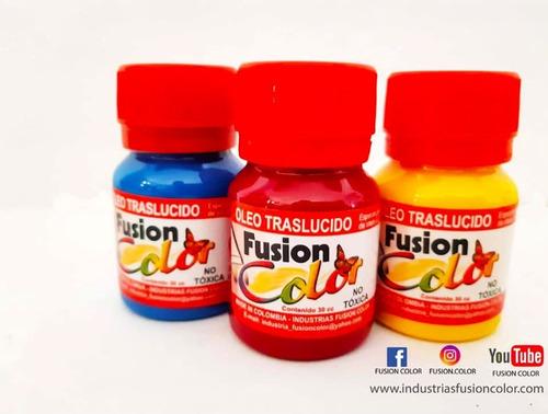 Imagen 1 de 3 de 6 Oleos Traslucido X 30 Cc Fusion Color
