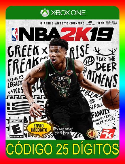 Nba 2k19 Xbox One - 25 Dígitos (envio Já)