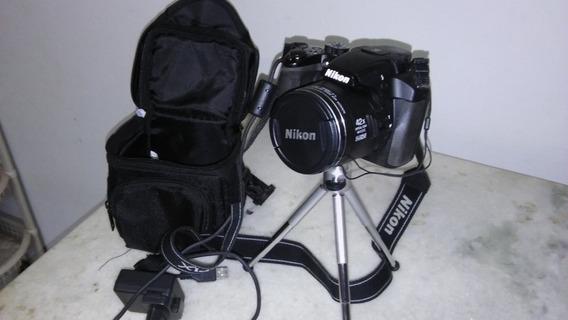 Máquina Fotográfica Nikon Coolpix P510 C Acessórios Completa