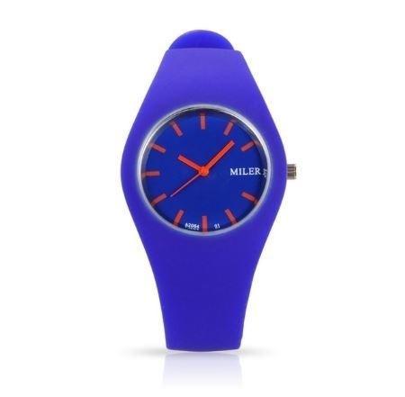 Relógio Feminino Marca Miler Quartzo Pulseira Silicone Mauve