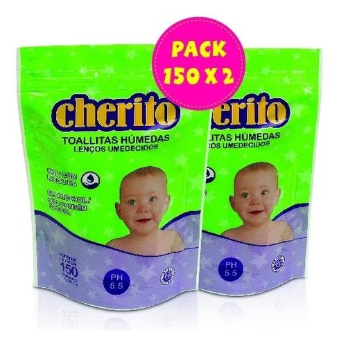 Imagen 1 de 1 de Pack Cherito Toallitas Húmedas 150 X2