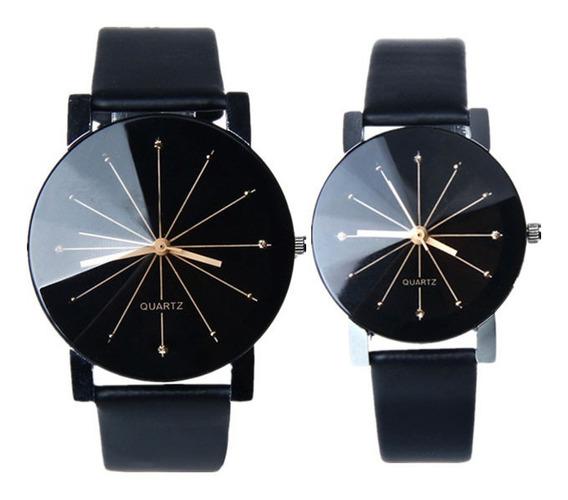Duo Parejas Relojes Negro Elegante Enamorados