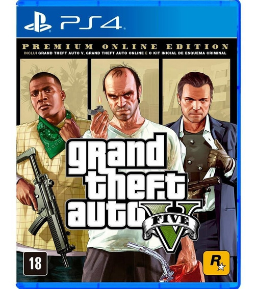 Grand Theft Auto V - Gta 5 Premium Edition - Ps4