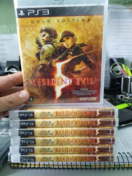 Resident Evil 5 Gold Edition Ps3 Novo Mídia Física Lacrada