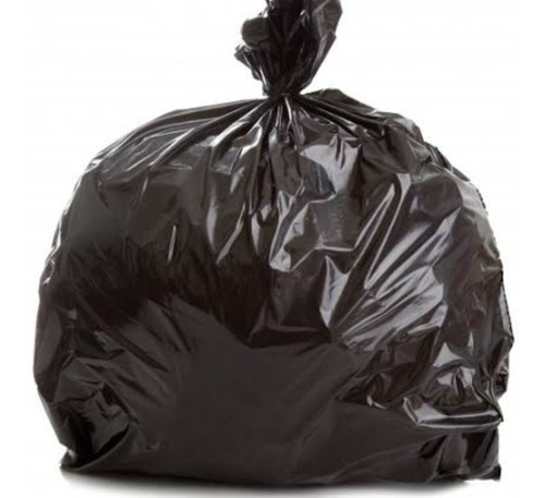 Imagen 1 de 3 de 25 Kg Bolsa Negra Para Basura Jumbo 90x120,plástico Recicla
